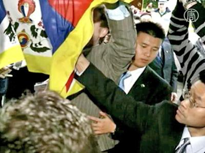 Chinesische Delegierte behandeln Parlamentarier grob