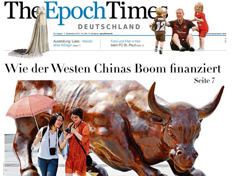 Epoch Times Deutschland ab 25. August in Hamburg im Verkauf