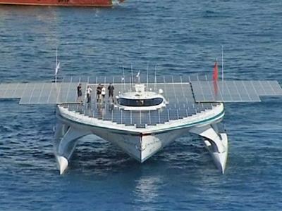 World's Biggest Solar Powered Boat Seta Sail from Monaco