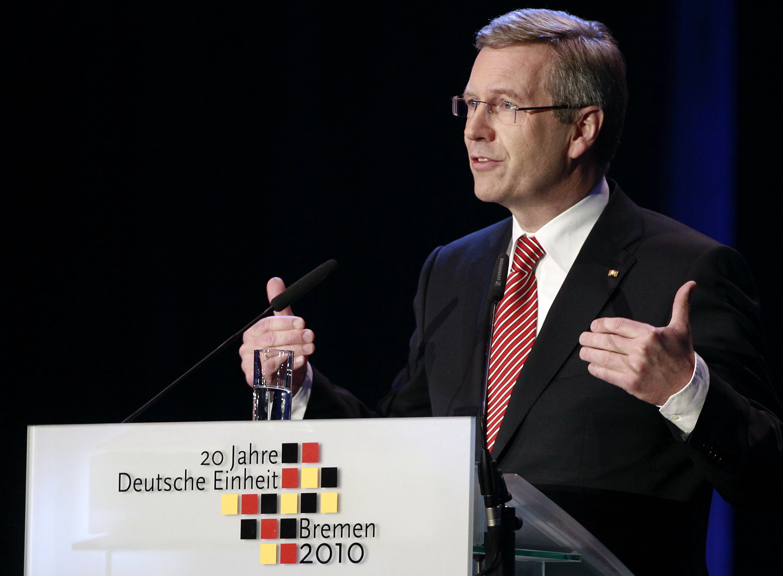 Bundespräsident Wulff zum Tag der Deutschen Einheit