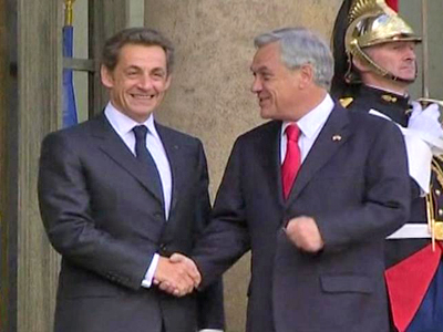 France: Chilean President Pinera Meets President Sarkozy
