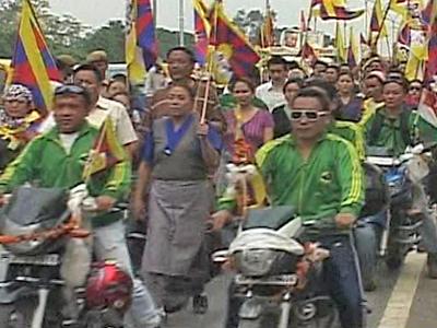 Neu-Delhi: Demonstration gegen China als Gastgeber der Asian Games
