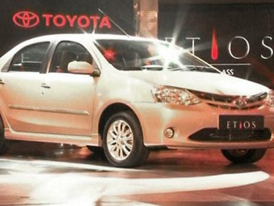 Toyota Launches New Etios Car in India