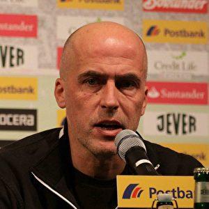 Der Trainer der Borussia, Michael Frontzeck. Foto: Steffen Andritzke/The Epoch Times