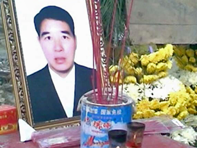 Tod eines chinesischen Dorfchefs: Polizeieinsatz gegen Trauernde