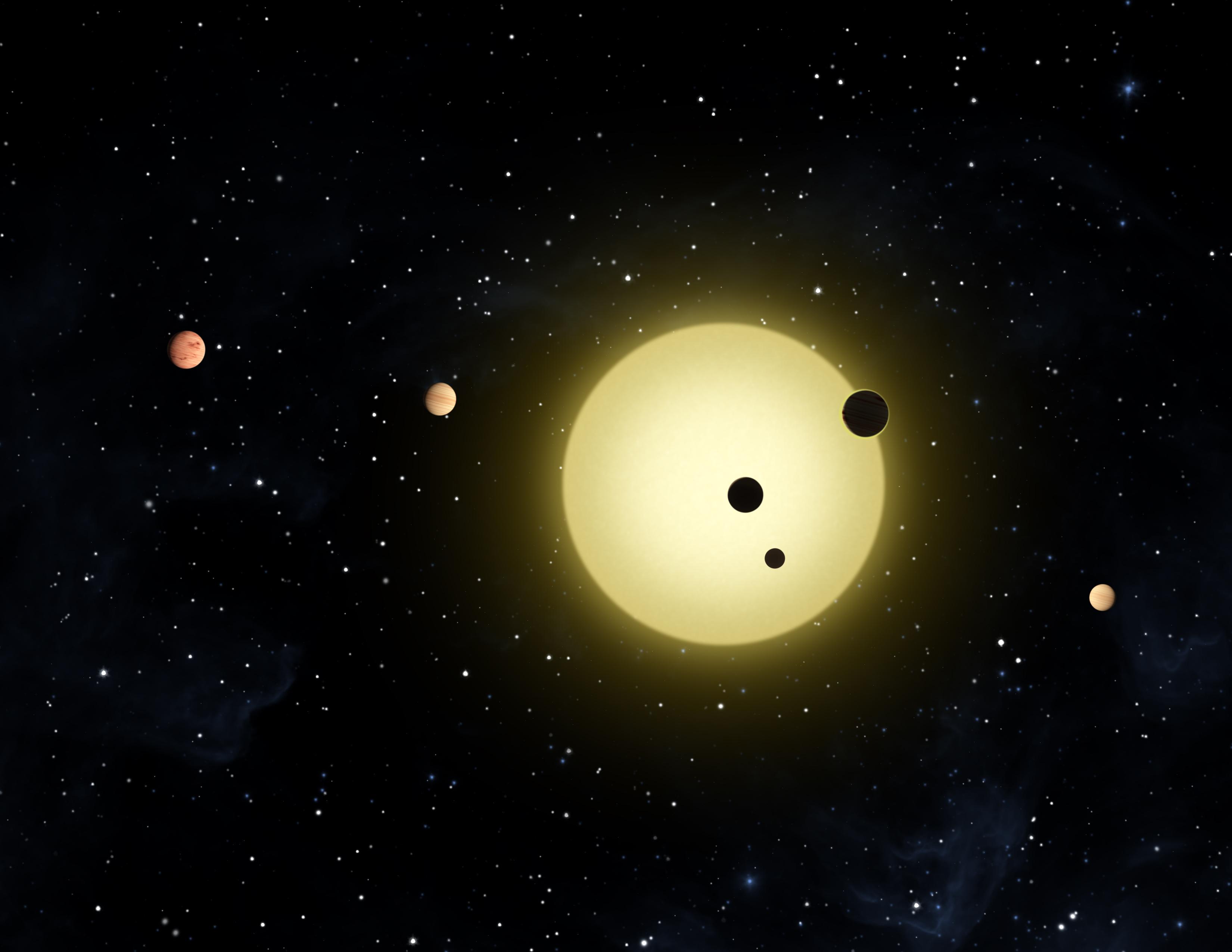 Weltraumteleskop Kepler entdeckt sechs neue Planeten