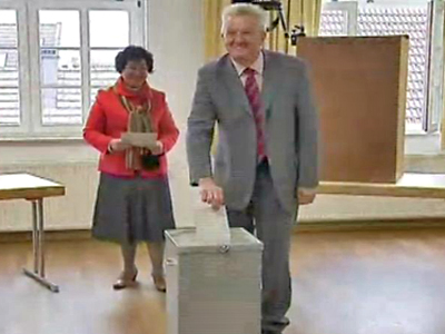 Candidates in German State Elections Cast Their Ballots