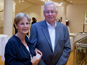 """Reiseveranstalter Peter Albrecht und seine Frau. """"Das war super"""", sagte Albrecht."""