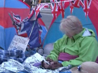 Royal Fans Camp Out In London