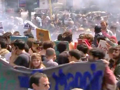 Students Protests Against Banks in Rome