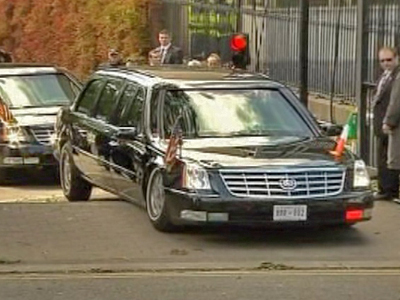 Obama Abandons Grounded Cadillac in Dublin