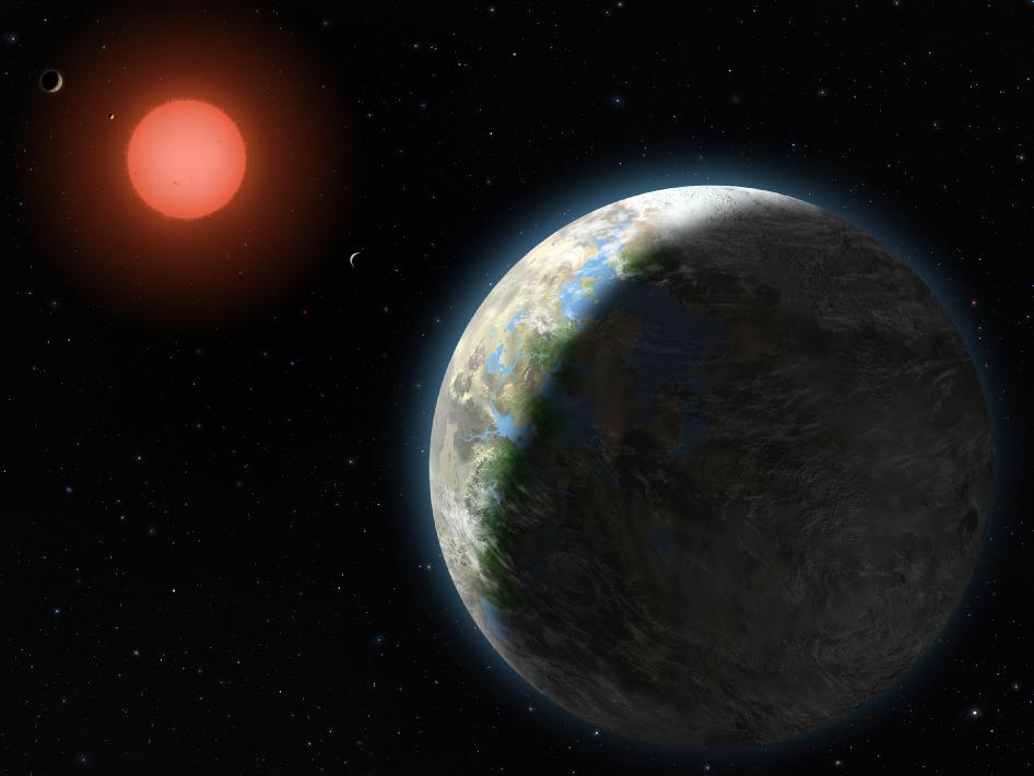 Erster bewohnbarer Exoplanet umrundet roten Zwerg