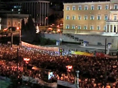 Anti-austerity Protest in Athens