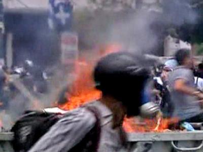 Greek Protest Turn Violent