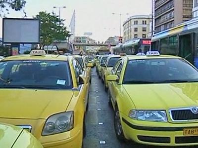 Greek Taxi Drivers Go on Strike