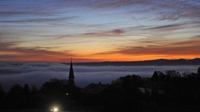 Hittenkirchen bei Sonnenaufgang