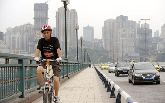 China - Chongqing, 30-Millionen-Stadt, Schauplatz von Machtkämpfen.  Foto: Liu Jin/AFP/Getty Images