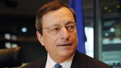 EZB-Präsident  Draghi schürt Hoffnungen auf Zentralbankhilfe