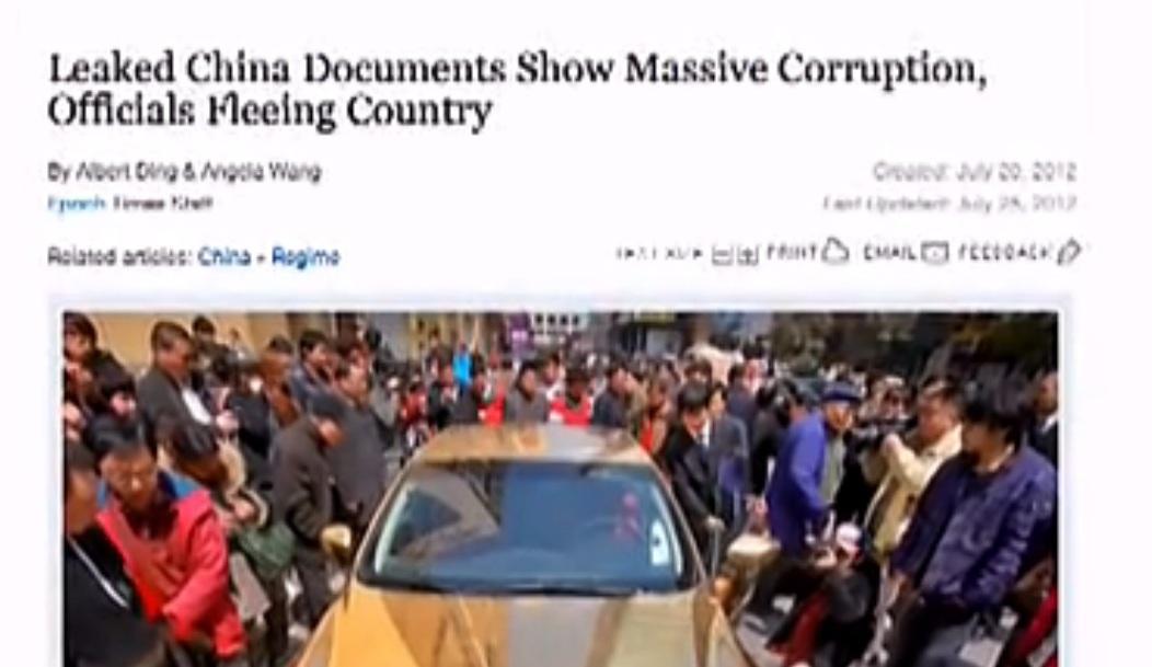 China: Dokument beweist Veruntreuung von Beamten