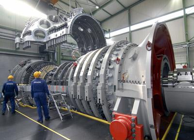 Gas- und Dampfturbinenkraftwerk von Siemens hält 3-fach-Weltrekord
