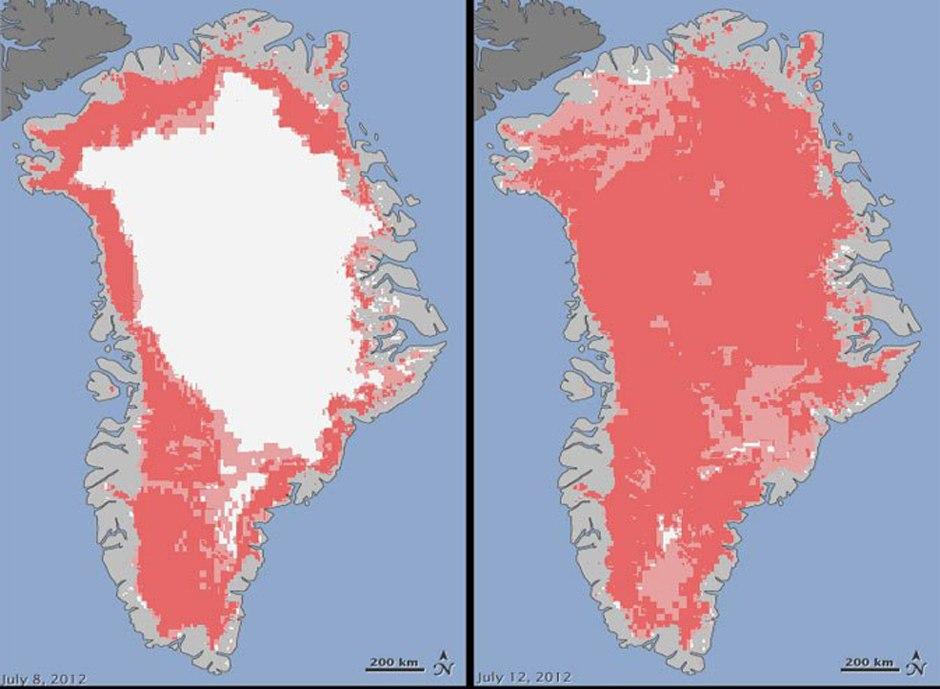 Historische Eis-Schmelze auf Grönland