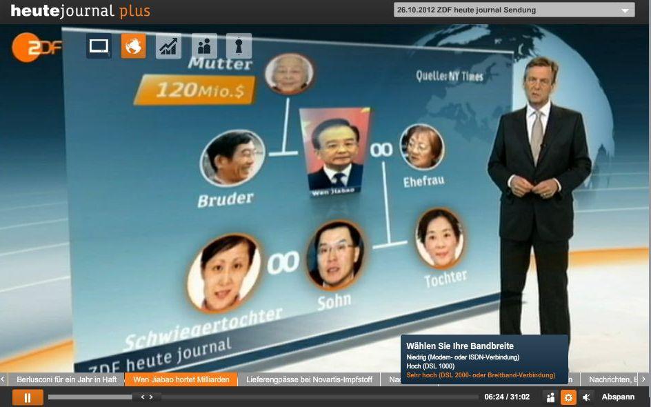 China blockiert BBC und NY Times wegen Bericht über Premier Wen Jiabao