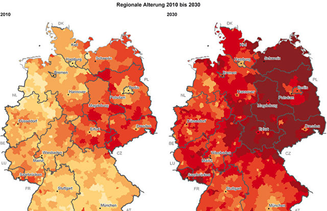 Wie die Bevölkerung altert  Foto: BBSR