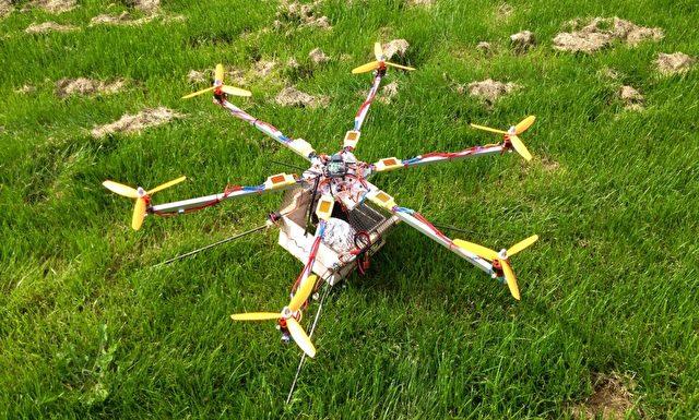 Der Dönercopter: eine Drohne für den Einsatz gegen Hunger. Foto: DoenerCopter.de