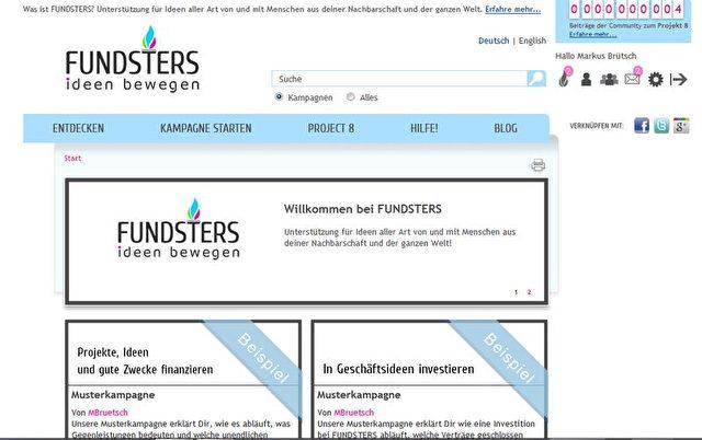 Screenshot www.fundsters.de  Foto: FUNDSTERS