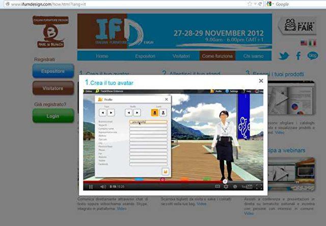 Auf der virtuellen Messe bewegt man sich als Avatar. Bild: Screenshot/sol