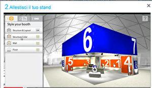 Ein virtueller Messe-Stand, bereit virtuell bestückt zu werden. Bild: Screenshot/sol