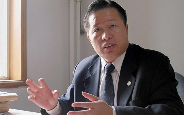 Gao Zhisheng am 2. Nov. 2005 in seinem Büro in Peking.  Foto: Verna Yu/AFP/Getty Images