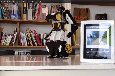 Ein  Roboter, der fast alles kann, was ein Transformer können muss. Foto: Screenshot von Ying Hartmüller