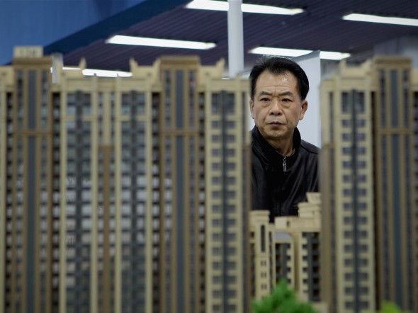 Besucher bei der Beijing Spring Real Estate Trade Fair am 9. April 2011.  Foto: Lintao Zhang/Getty Images