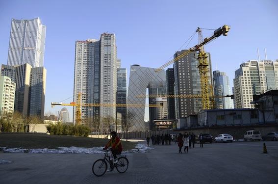 Das Wirtschaftswachstum in China ist 2012 auf dem tiefsten Stand seit 13 Jahren.  Foto: Wang Zhao/AFP/Getty Images