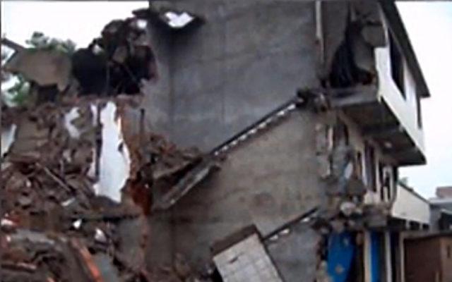 Hausreste einer Familie, die Opfer einer Zwangsräumung in China wurde.   Foto: NTD Television