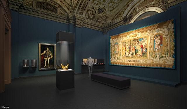 Kunstkammer im Kunsthistorischen Museum Wien. Foto: © hg merz architekten