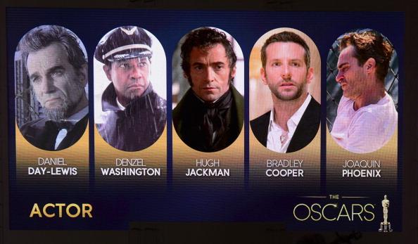"""Die Oscar-Nominierungen in der Kategorie """"Bester Schauspieler"""". Foto: Robyn Beck/AFP/Getty Images"""