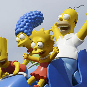 """Simpson Ride"" im Universal-Themenpark.  Foto: Bernd Kregel"