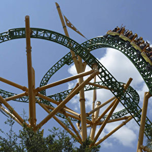 """Cheetah Hunt"" in Busch Gardens.  Foto: Bernd Kregel"