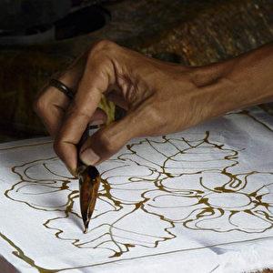 Batik-Arbeiten in Malaysia.  Foto: Bernd Kregel