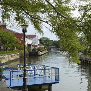 Kanal in der Altstadt von Malakka.  Foto: Bernd Kregel