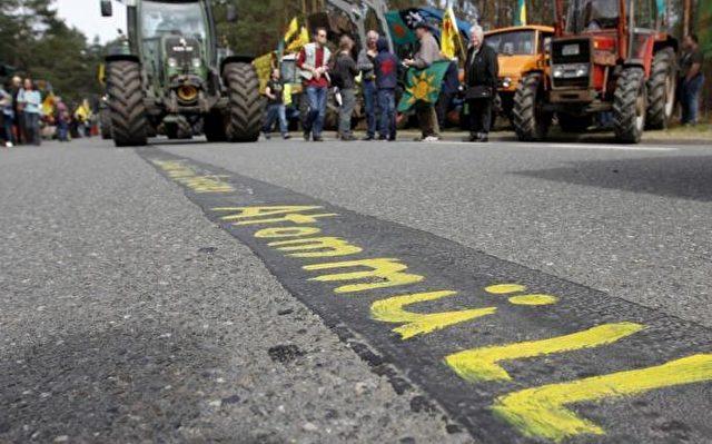 Demonstration gegen den Salzstock Gorleben als Atommüll-Endlager. Foto: Andreas Conradt/PubliXviewinG