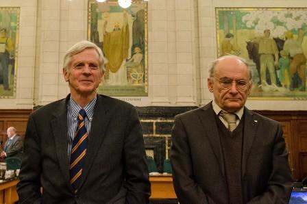 David Kilgour (l.) und David Matas bei der Anhörung über Organraub in China. Foto: Matthew Little/The Epoch Times
