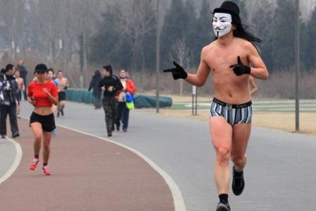 Könnte so ein Nackter Beamter auf der Flucht aussehen? Wohl kaum.  Foto: AFP/Getty Images