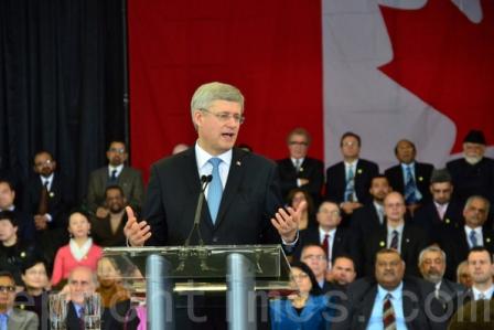 Der Premierminister von Kanada, Stephen Harper, hat am 19. Februar die Einrichtung eines Büros für religiöse Freiheit im Außenministerium verkündet.Foto: Zhou Xing/ Dajiyuan