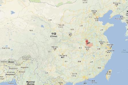 Heute ist Xinyang noch eine unbekannte Stadt in der Provinz Henan. Foto: Screenshot von der Webseite maps.google.de/ETD