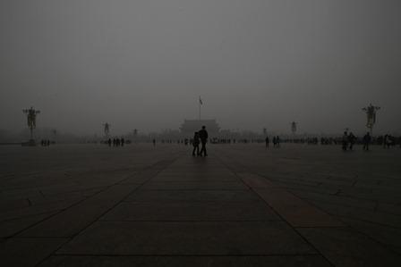 Die Menschenrechtslage in China liegt genauso im Smog wie Peking am 31. Januar. Foto: Feng Li/Getty Images