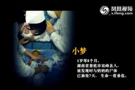 Das zwanzig Monate alte Kind wurde erst nach sieben Tagen bei der Leiche der Großmutter gefunden.