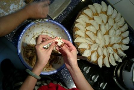 """""""Jiaozi"""" ist ein traditionelles chinesisches Gericht. Foto: China Photos/Getty Images"""